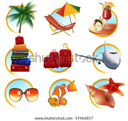 Holiday objects, vector illustration, EPS file included - stock vector