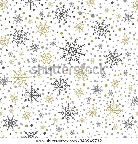 Holiday pattern snowflakes. - stock vector