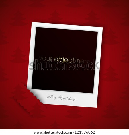 holiday photo for your object - stock vector
