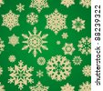 holiday seamless background with snowflakes - stock vector
