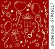 Holiday texture (red) - stock vector