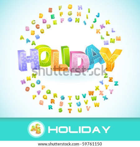 Holiday. Vector 3d illustration.