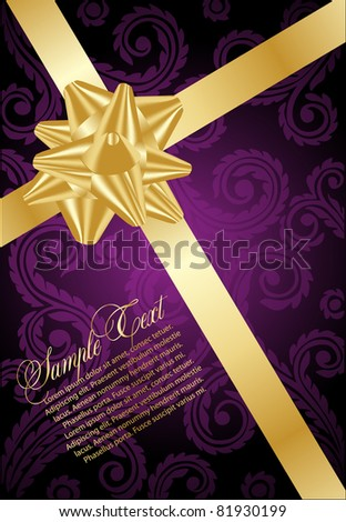 holiday violet background - stock vector