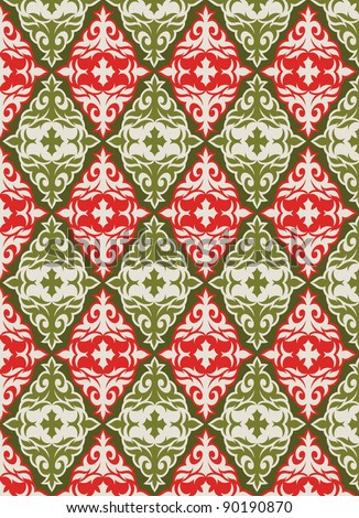 holiday wrap II: seamless pattern for Christmas or other holiday wrapping paper - stock vector