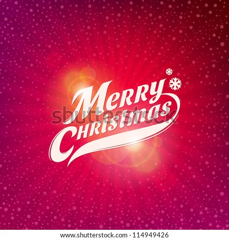 Holidays card design with inscription - Merry Christmas - stock vector