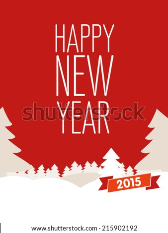 Holidays card for New Year. Design template card. Vector.