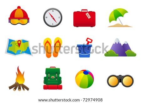 Holidays Icons Collection color icons featuring the principal holidays signs - stock vector
