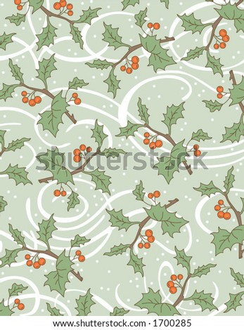 holly background scales to 8.5 x 11. vector image