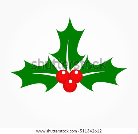 Holly berry Christmas plant symbol