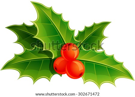 Awesome vector holly leaves images