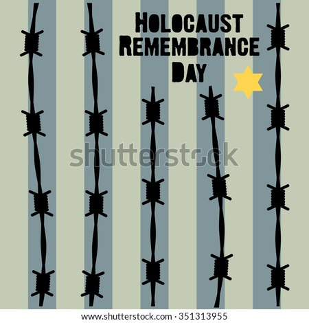Holocaust Remembrance Day January 27 Vector Stock Vector 351313955 ...