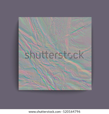 Holographic grey foil abstract background. Vector illustration creative project design