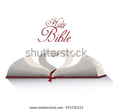 Holy bible design over white background, vector illustration - stock vector