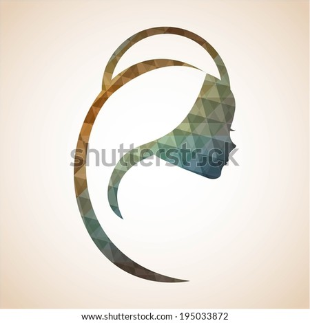 Holy Mary design over beige background, vector illustration - stock vector