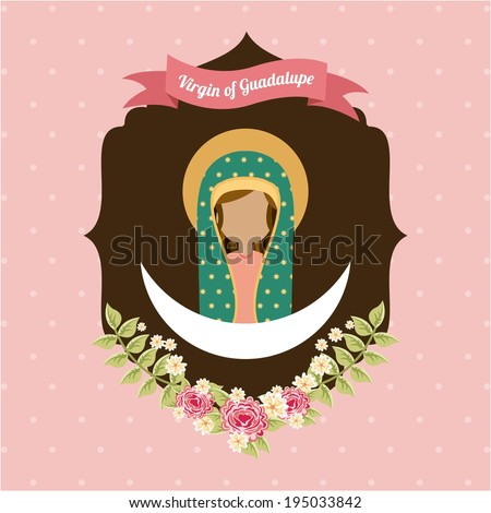 Holy Mary design over pink background, vector illustration - stock vector