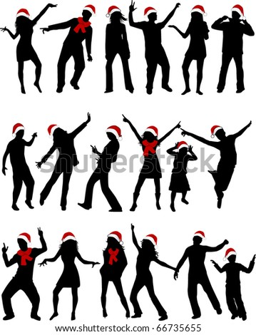 Holy people silhouettes - stock vector
