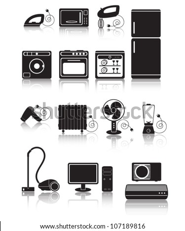 Home appliance - stock vector