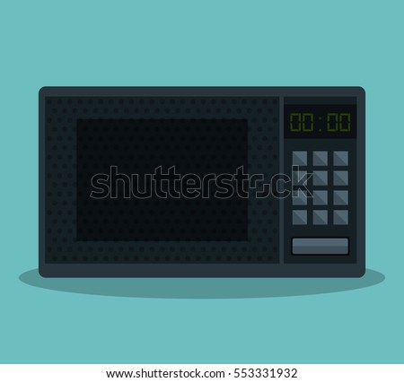 home appliance oven microwave isolated icon