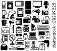 Home appliances icons - stock photo
