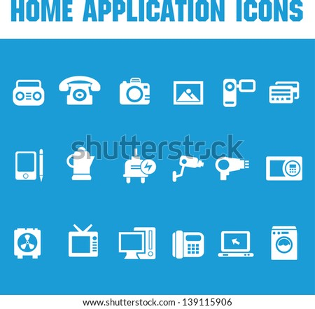 Home application icons,vector - stock vector