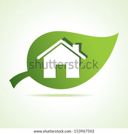 Home at leaf stock vector - stock vector