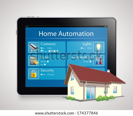 Home automation 4 - stock vector
