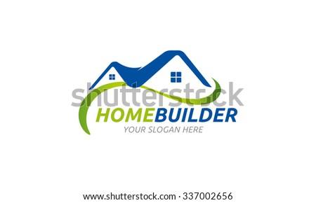 Home Builder Logo - stock vector