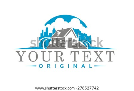 HOME CITY - stock vector
