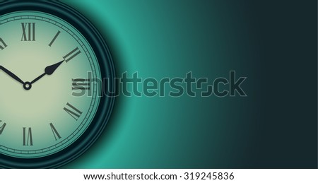Home clock Background. Vector. - stock vector