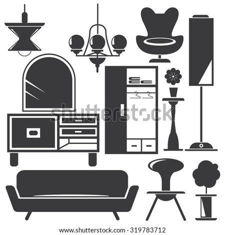 Captivating Home Decoration, Home Furniture Icons