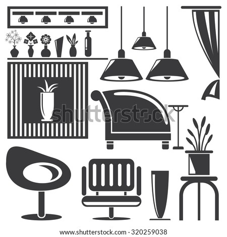 Home Decoration, Home Furniture Icons