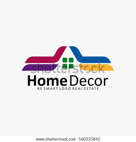Nice HOME DECORATION HOUSE REAL ESTATE ICON LOGO