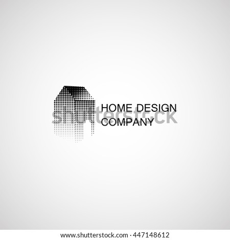Home design and construction. Vector Icon. Business sign template for consttruction and renovation businesses - stock vector