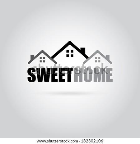 Home design over gray background, vector illustration - stock vector