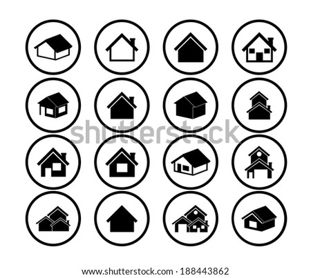 Home design over white background, vector illustration - stock vector