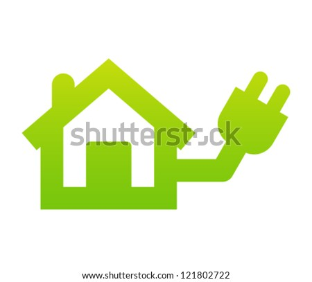 Home electricity icon - stock vector