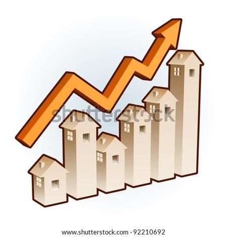 home exchange rate chart - stock vector