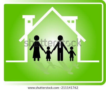 home, family vector