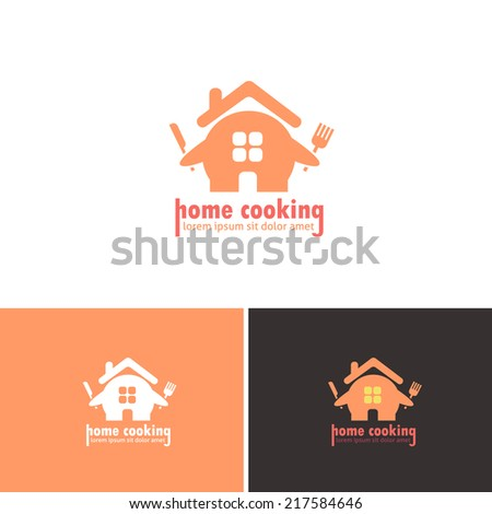 Home Food Vector Icons, Logos, Sign, Symbol Template  - stock vector