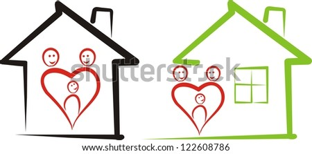 home for family - stock vector