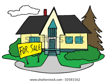 Home for sale - stock vector