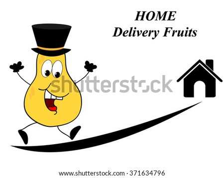 Home fruit delivery - stock vector