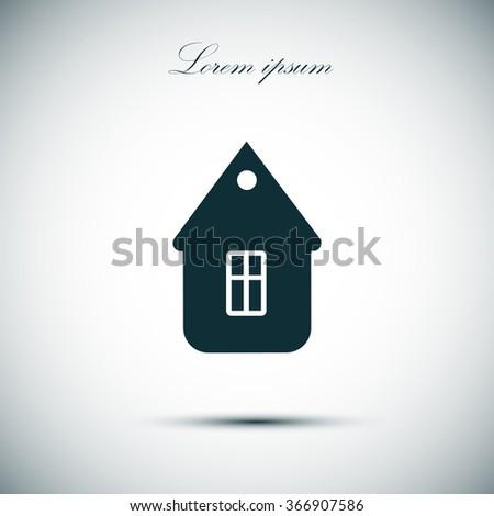 home, icon - stock vector