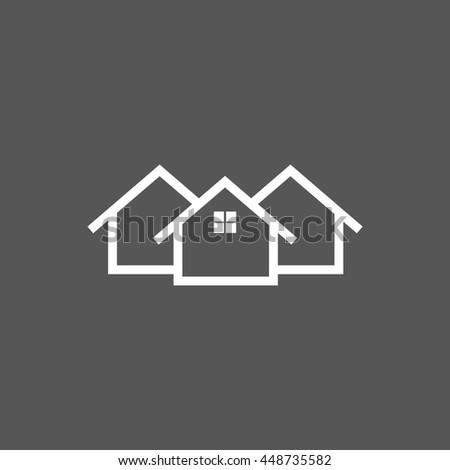 Home icon - stock vector