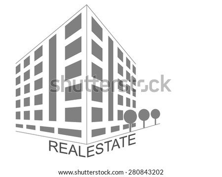 Home icon abstract concept. Real estate development architecture concept symbol. - stock vector