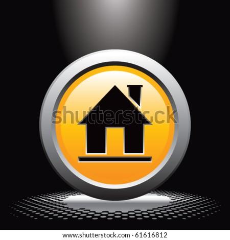 home icon under spotlight - stock vector