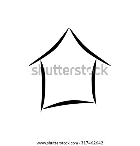 home icon vector - stock vector