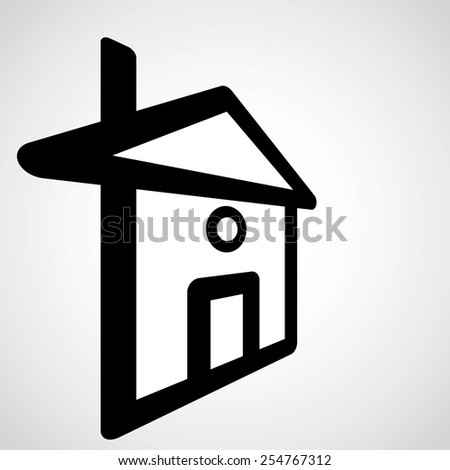 home icon.vector illustration. - stock vector