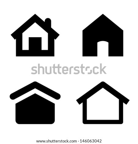 Home icons - stock vector