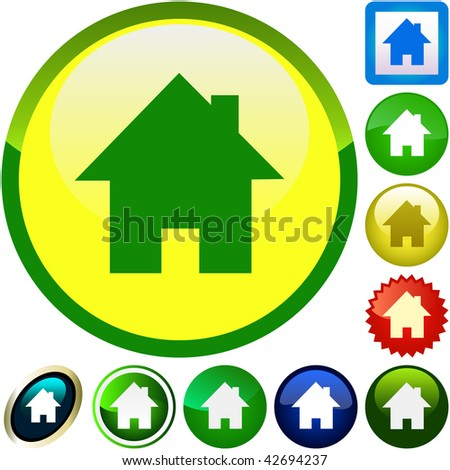 Home icons. Graphic elements set. - stock vector